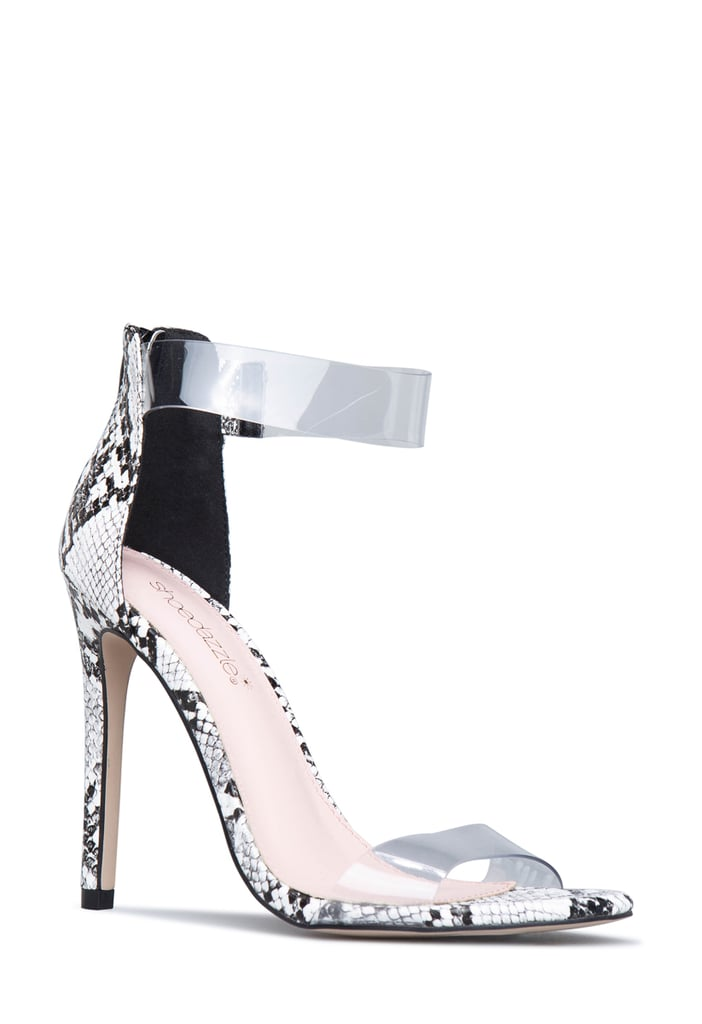 Erika Girardi x ShoeDazzle See Right Through You Sandals