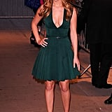 Jennifer Lawrence wore a sexy drew to a screening of the movie in NYC this week.