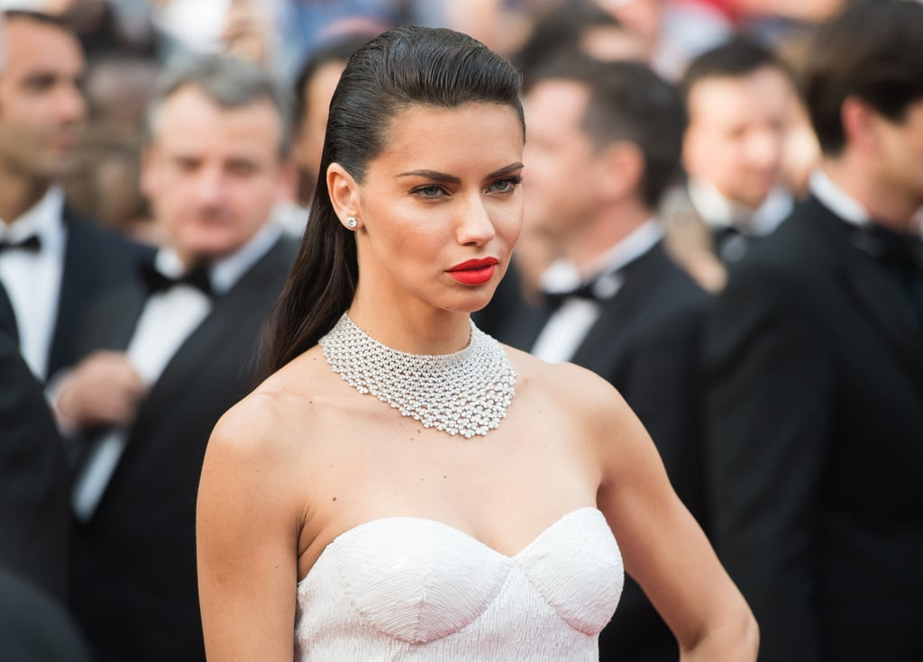 Adriana Lima's Blinding Chopard Necklace