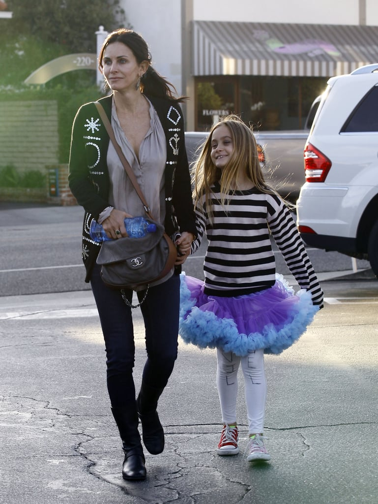 Coco Arquette was out with mom Courteney Cox.
