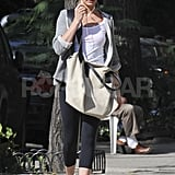 Cameron Diaz rocked form-fitting gear for a workout.