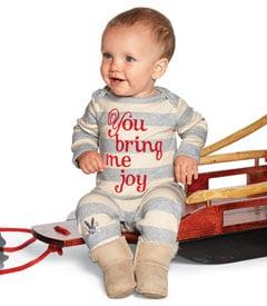 Gray Stripe You Bring Me Joy Romper ($54)