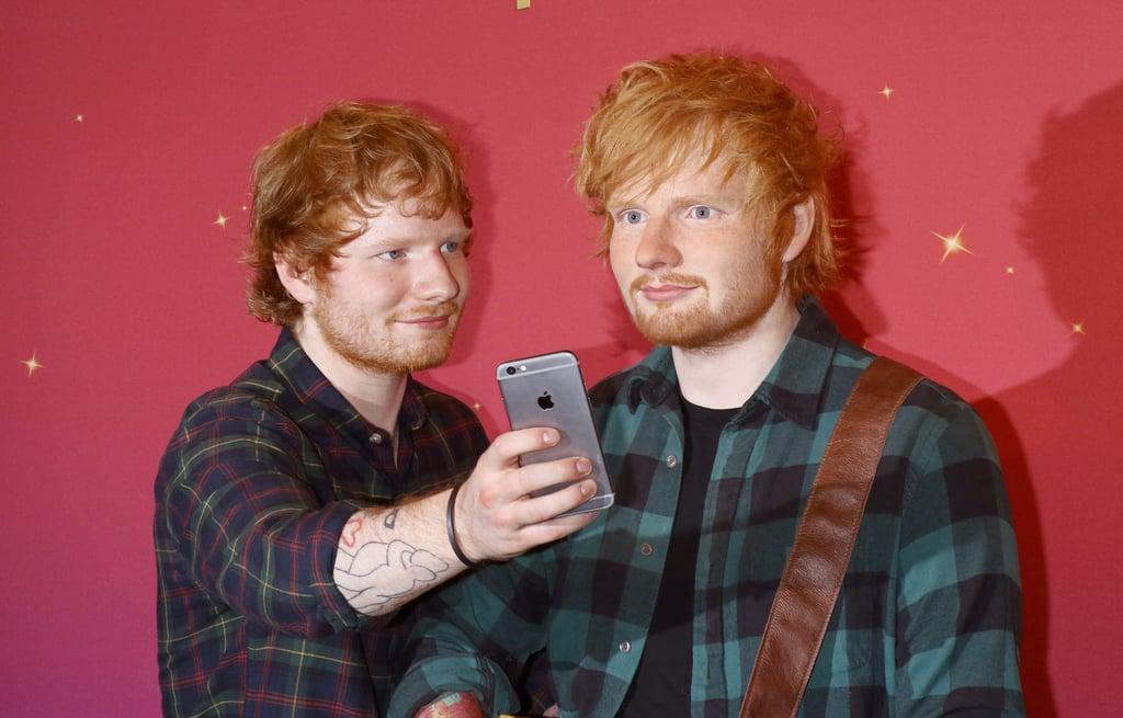 Pictures of Ed Sheeran's Wax Figure