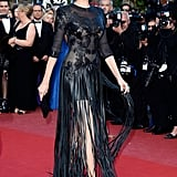 Adriana Karembeu at the Cannes premiere of Cleopatra.
