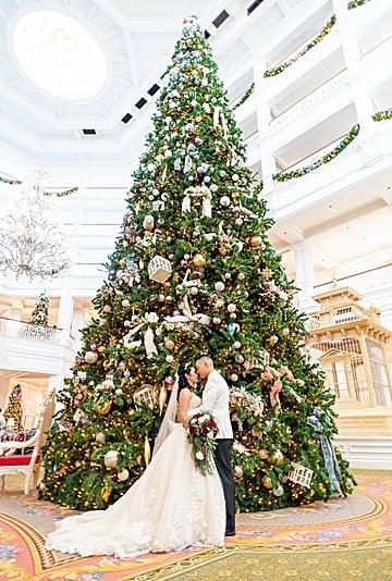 This Couple Had a Holiday Wedding at Walt Disney World