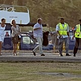 Pippa Middleton arrived in St. Lucia after a stay in Mustique.