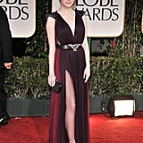 Emma Stone showed some serious leg on the 2012 red carpet.