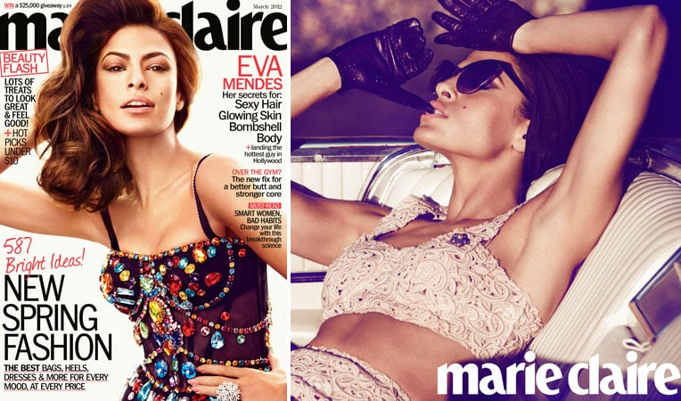 """Eva Mendes on Feeling """"Creatively Satisfied"""" With Ryan Gosling, Her Insecurities, and More in Marie Claire"""