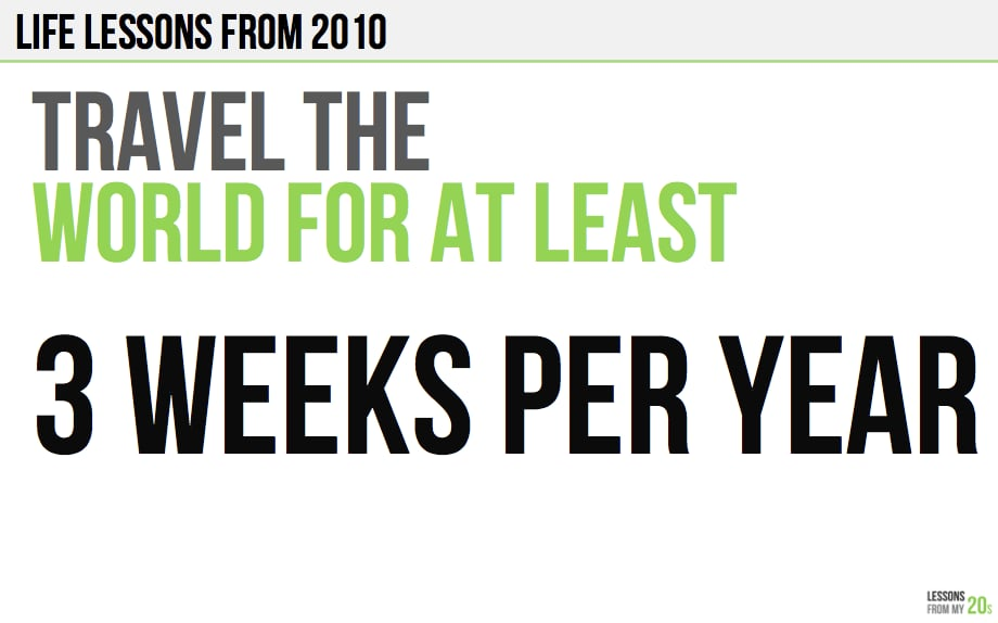 Don't miss out on great travel experiences. Source: Ryan Allis via Scribd