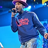 Pharrell Williams performed at the Y100 Jingle Ball in Florida on Sunday.