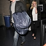 Kirsten Dunst and Garrett Hedlund arrived at LAX together.