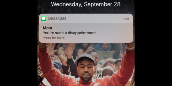 This Kanye West Screensaver Makes Every Message Better