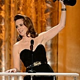 Tina Fey was thrilled to win the SAG for her final year of starring in 30 Rock.
