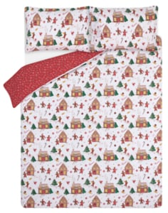 George Home White Gingerbread House Easy Care Duvet Set