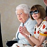 Queen Elizabeth II at Fashion Week