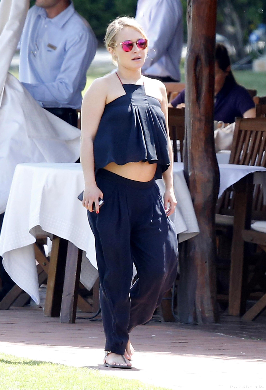 Hayden Panettiere Bares Her Baby Bump in a Crop Top