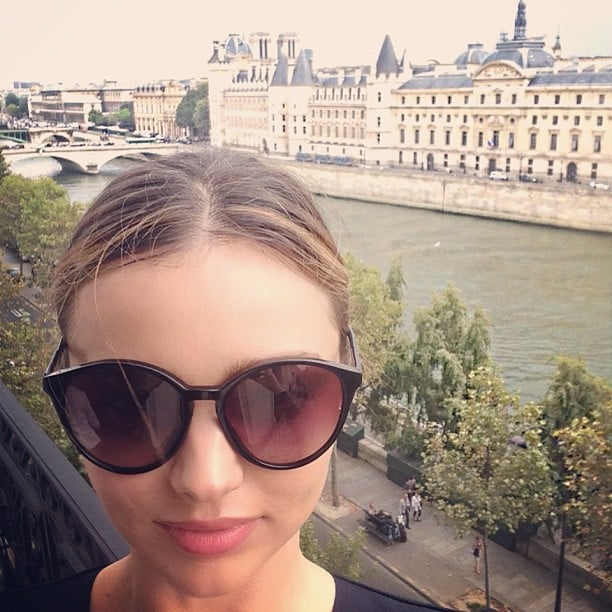 Miranda Kerr snapped a scenic photo when she arrived in Paris. Source: Instagram user mirandakerr
