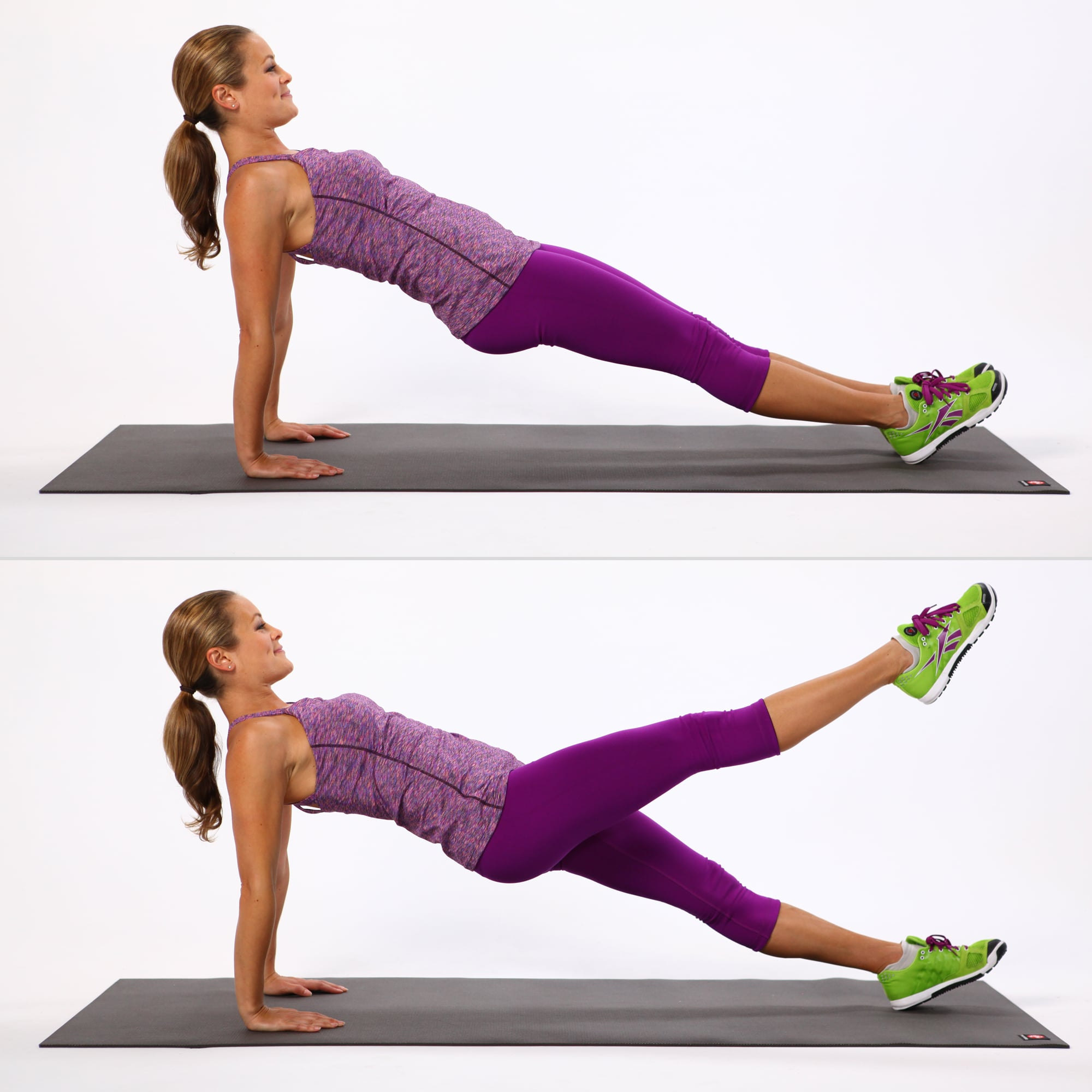 Reverse Plank With Leg Lift | These Are the 50 Best Ab Moves For a ...