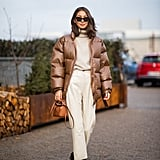 Winter Outfit Idea: A Puffer Jacket and Monochromatic Separates