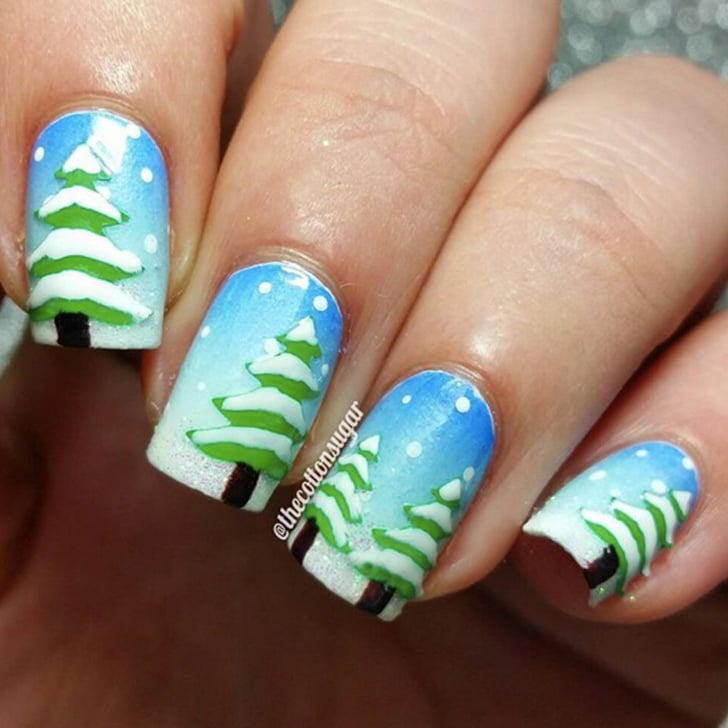 Winter nail art tutorials from instagram popsugar beauty create these frosty winter nail art designs in less than a minute prinsesfo Choice Image