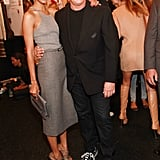 Zoe Saldana met Michael Kors backstage after his fashion show.