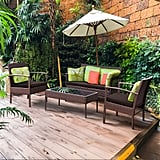 Costway 4 Pcs. Patio Rattan Wicker Furniture Set