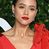 Nathalie Emmanuel Classic Crimson Lip