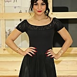 On Monday, Vanessa Hudgens attended the preview performance of Gigi in NYC.