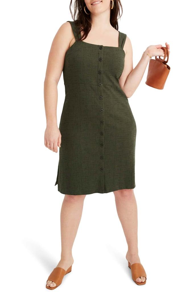 c92a2b5efa4 Madewell Texture   Thread Button Front Dress