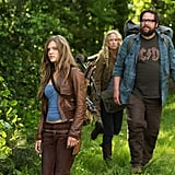 Tracy Spiridakos as Charlie, Zak Orth as Aaron, and Anna Lise Phillips as Maggie on Revolution. Photo courtesy of NBC