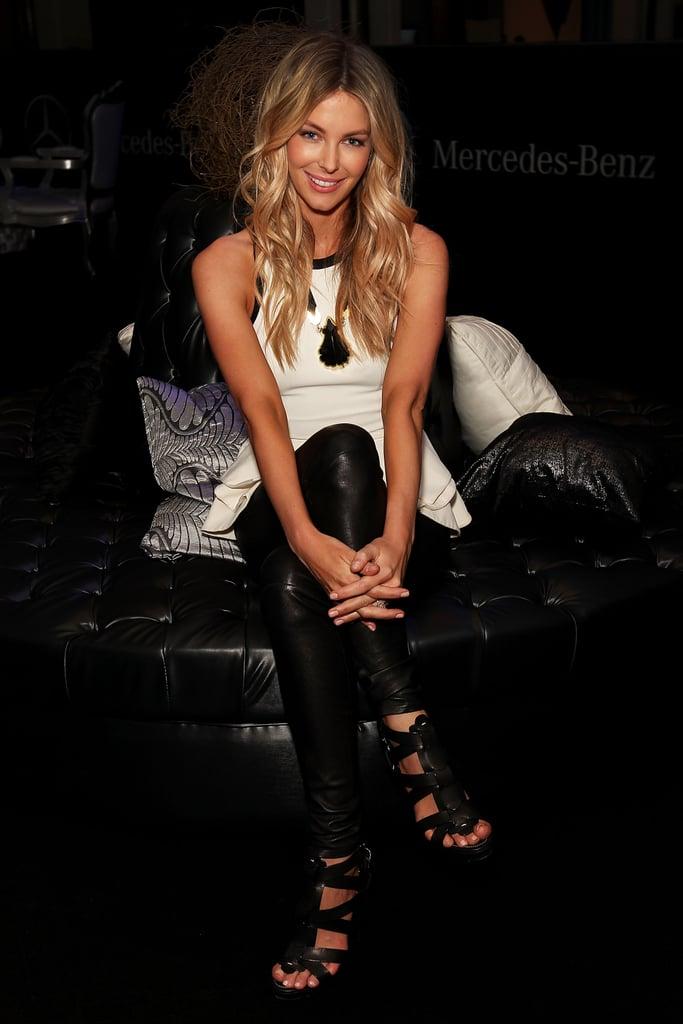 Jennifer Hawkins backstage