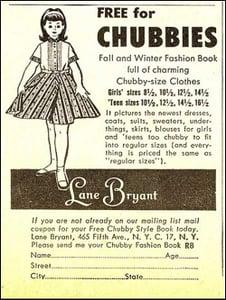 "Flashback: Lane Bryant Ad ""For Chubbies"""