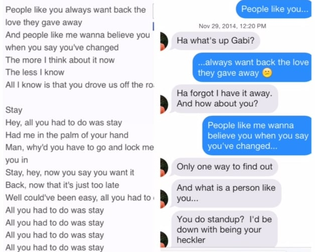 All You Had To Do Was Stay He Can Handle Me At My Worst - 29 stupidest things happen 2014
