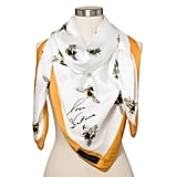 Bee Print Scarf with Marigold Trim ($20)