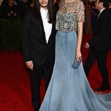 Caroline Trentini and Olivier Theyskens