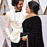Pictured: Dev Patel and Anita Patel