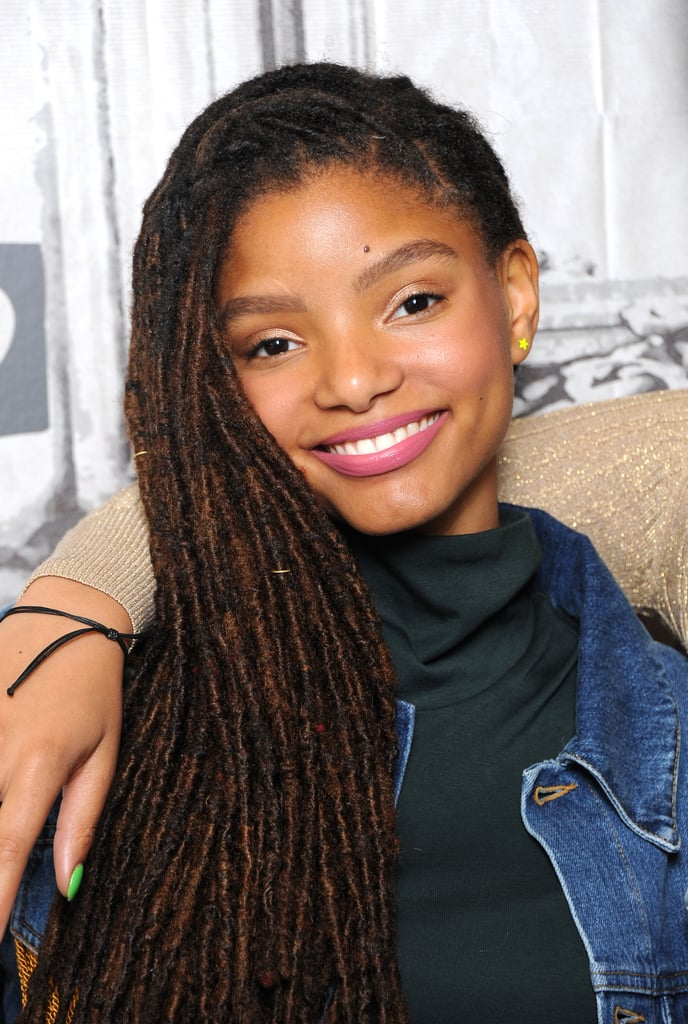 Halle Bailey in a Pink Lip