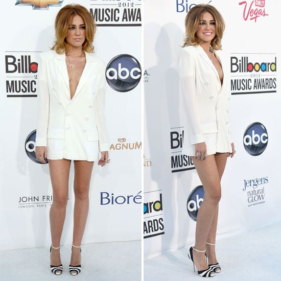 Pictures of Miley Cyrus in Blazer Dress on the Red Carpet for the 2012 Billboard Music Awards: Thoughts?