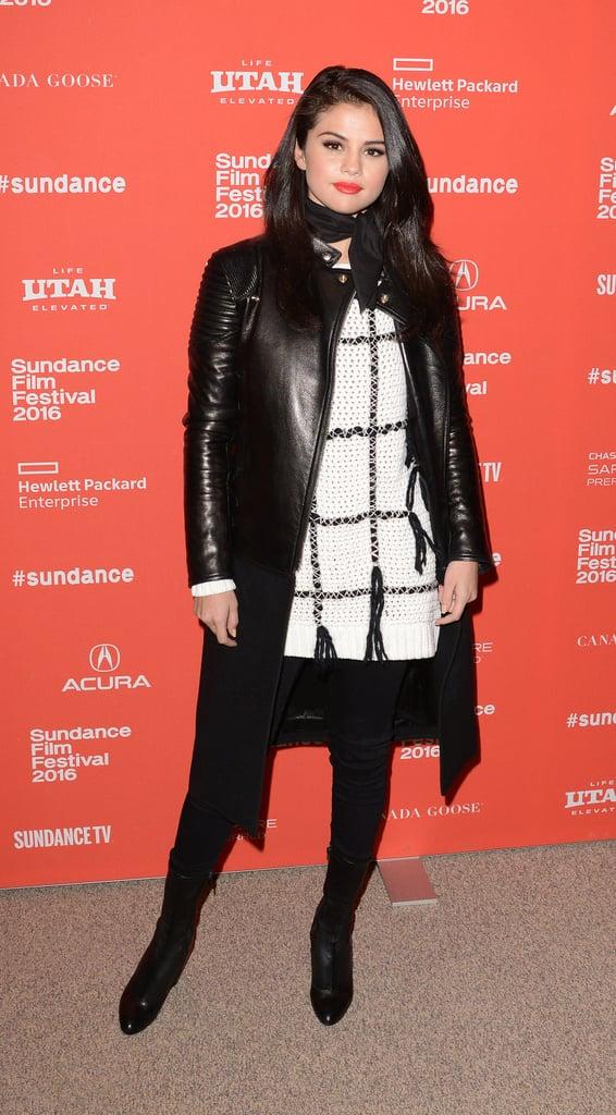 Selena Gomez In A Sweater Dress At Sundance Popsugar Latina