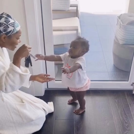 Gabrielle Union's Daughter Kaavia Takes Her First Steps