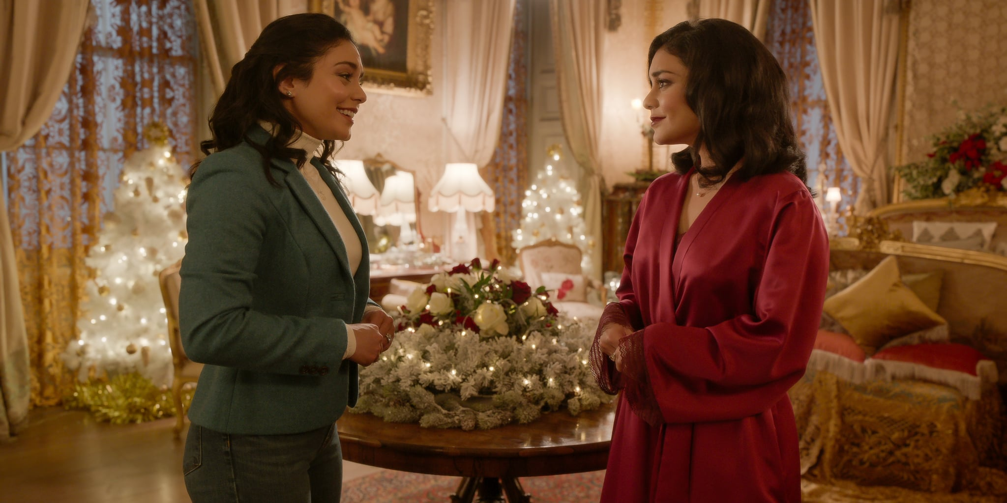 The Princess Switch: Switched Again. Vanessa Hudgens as Stacy / Margaret / Fiona in The Princess Switch: Switched Again. Cr. Mark Mainz/NETFLIX © 2020