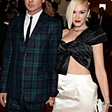 Gwen Stefani and Gavin Rossdale held hands on their way into the bash.