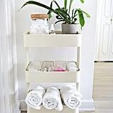Kitchen-Turned-Bathroom Cart