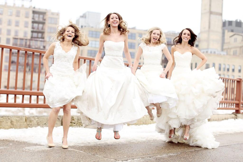 Best friend wedding dress photo shoot popsugar love sex for Friends wedding dress