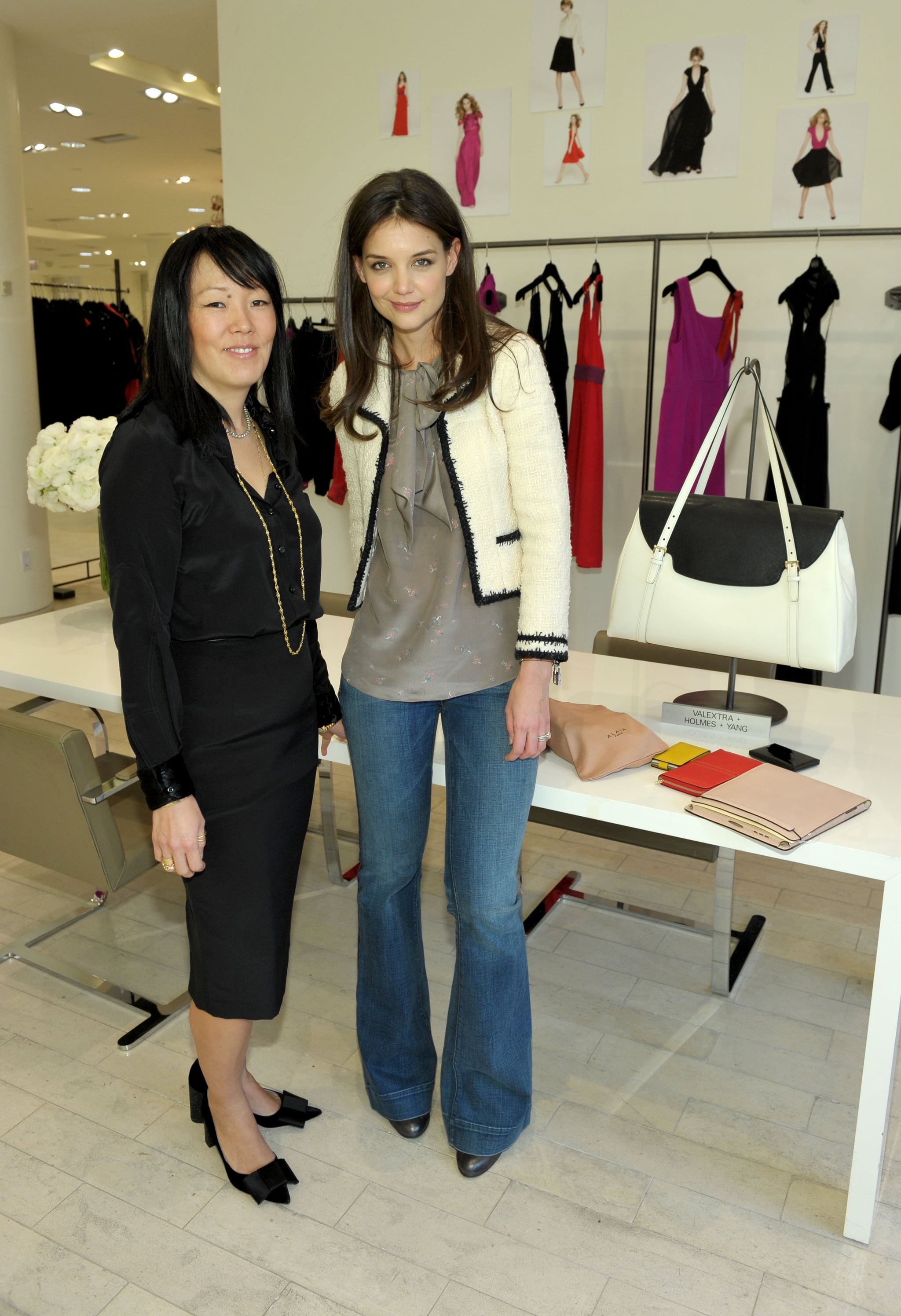 Katie Holmes with design partner and friend Jeanne Yang.
