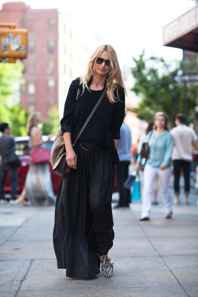 Her cool kicks didn't go unnoticed in this all-black mix — in fact, they're the perfect way to perk up any of your basic ensembles.