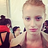 Badgley Mischka set off the glorious designs with a touch of baby-blue eye shadow.