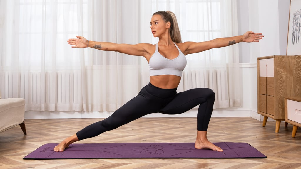 Gonex Yoga Mat with Alignment Lines