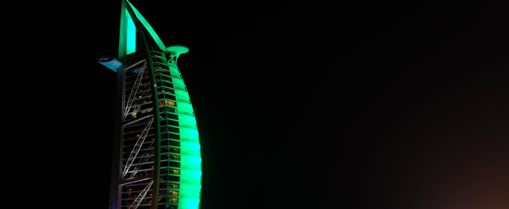 UAE Tourist Attractions Light Up Green For St Patrick's Day