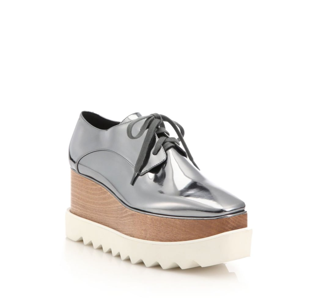 Stella McCartney Metallic Elyse Platform Shoes ($950)